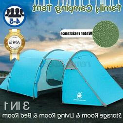 4-5 Person Family Camping Tunnel Dome Tent  Cabin Hiking