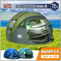 4-5 Person Family Pop Up Camping Tent Waterproof Backpacking