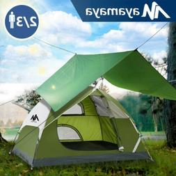 4-5 Person Large Instant Easy Pop Up Dome Family Camping Ten