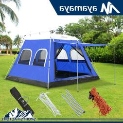 4-6 Person Large Family Camping Tent House Instant Pop Up Ca