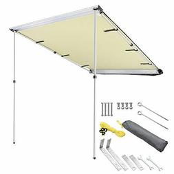 4.6x6.6' Car Side Awning Rooftop Tent Sun Shade SUV Outdoor