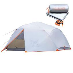 EXIO 4 Person Backpacking Tent: Extended 3+ Season Freestand