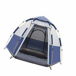 Toogh 4 Person Camping Tent 3 Seasons Backpacking Tents Hexa