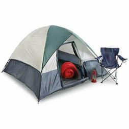 "4 Person Easy Setup Tent, 8' X 54"" Family Tents Sports Outdo"