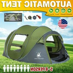 4 Person Hydraulic Camping Automatic Pop Up Tent Waterproof