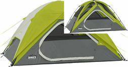 CORE 4 Person Instant Dome Tent 9' X 7' GREEN Outdoor Recrea