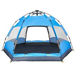BATTOP 4 Person Tent Instant Pop Up Family Camping Tent - Do