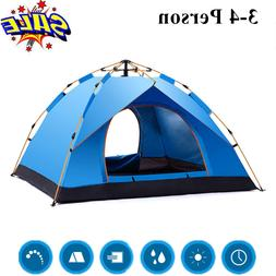 4 Person Ultralight Pop-Up Tent Camping Outdoor Family Hikin