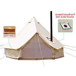 PlayDo 4-Season Waterproof Cotton Canvas Wall Tent Yurts Ten
