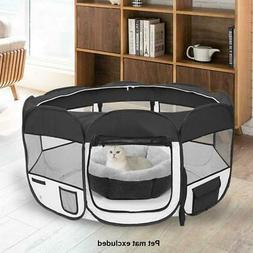 "45"" 600D Oxford Portable Pet Puppy Soft Tent Playpen Dog Cat"