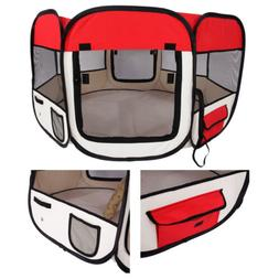 "45"" 600D Oxford Portable Pet Soft Tent Playpen Dog Cat Foldi"