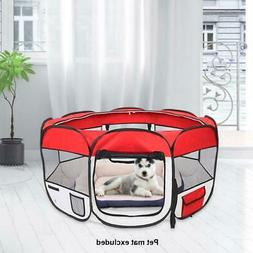 """45"""" Red Oxford Portable Pet Puppy Soft Tent Playpen Dog Cat"""