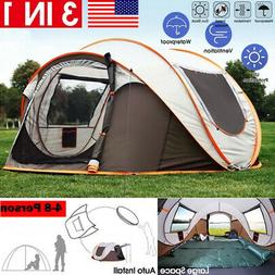 4-8 Person Waterproof Automatic Outdoor Instant Popup Tent S