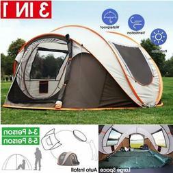 4-6 Persons Camping Tent Waterproof Auto Setup UV Sun Shelte
