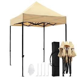 TopCamp 5'x5' Ez Canopy Tent, Portable Pop up Heavy Duty Out