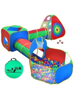 5pc Kids Ball Pit Tents and Tunnels Toddler Jungle Gym Play
