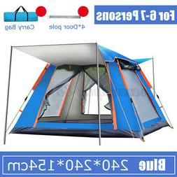 6-7 Person Automatic Outdoor Hiking Camping Up Tent Waterpro