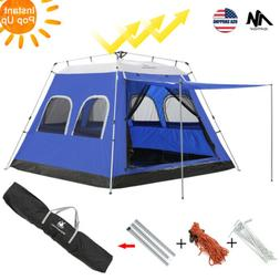 6-8 Person Large Family Camping Tents Automatic Pop Up Water