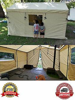 6 Person Ozark Trail 12x10 Wall Tent North Fork Outfitter wi