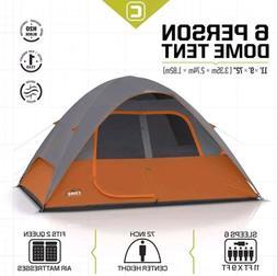 CORE 6 Person Dome Tent 11' x9' Brand New. Gray/Orange