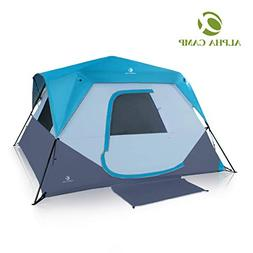 ALPHA CAMP 6 Person Instant Cabin Tent Camping/Traveling Fam