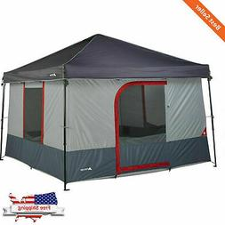 6-Person Instant Tent 10x10 Canopy Conversion Family Portabl