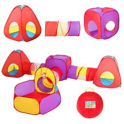 7pc Kids Ball Pit Play Tents & Tunnels Pop Up Baby Toy Gifts
