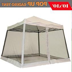8'x8'/10'x10' Pop up Canopy Party Tent Gazebo Ez with Net