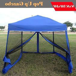 8'x8'/10'x10' Pop up Canopy Party Tent Gazebo Ez with Net