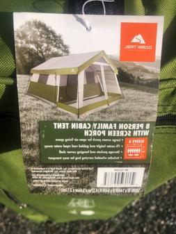 Ozark Trail 8 Person Cabin Tent With Screen Porch NEW!!!