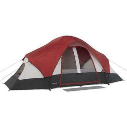 8-Person Family Dome Tent w/ Mud Mat 2 Rooms Cabin for Outdo