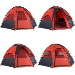 8-Person Geodesic-Like Dome Tent with 2 Door Entrance for Fa