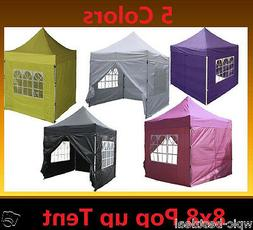8' x 8' Pop Up Canopy Party Tent Gazebo EZ - 5 Colors Availa