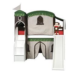 Bolton Furniture 9921500LT6TRSB Mission Low Loft Treehouse B