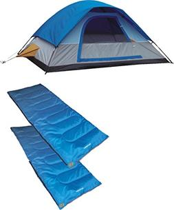A Alpinizmo 5 Men Dome Tent + Two 20F Sleeping Bags Combo Se