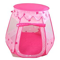 Amtinyjoy Pink Princess Tent Indoor and Outdoor 1-8 Years Ol