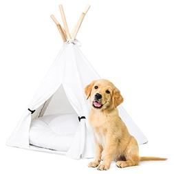 Best Choice Products 24in Portable Pet Teepee Tent Dog Bed w