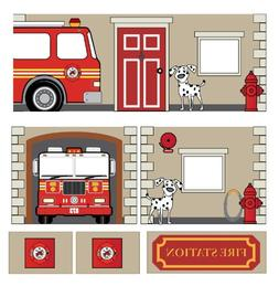 DHP Curtain Set for Junior Loft Bed with Fire Department Des