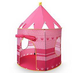 Flexzion Princess Castle Play Tent Portable Folding Girl's P