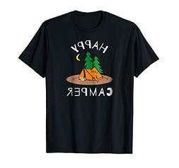 Happy Camper Birthday T-Shirt Funny Gift Dad Kids Men Cool