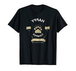 Happy Camper Birthday T-Shirt Vintage Bear Paw Claw 2018