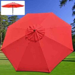 "Heavy Duty 9x9 Ft/ 108"" Diam Round 8-rib Umbrella Replacemen"