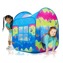 Indoor & Outdoor Pop Up Play Tent in Fun Underwater Design w