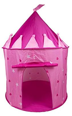 Clever Creations Pretty Pink Princess Castle Indoor/Outdoor