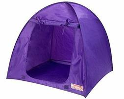 Purple Coleman Doll Tent, Perfect for the 18 Inch Camping Am