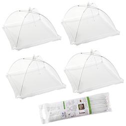 Large Pop-Up Mesh Screen Food Cover Tents - Keep Out Flies,