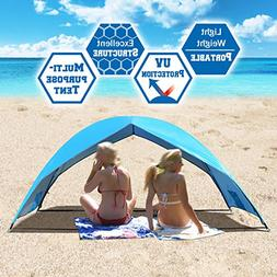 6459a4ea452f Strong Camel Portable Beach Tent Sun Shade Large Size Shelte