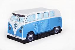 VW Volkswagen T1 Camper Van Kids Pop-Up Play Tent - Blue - M