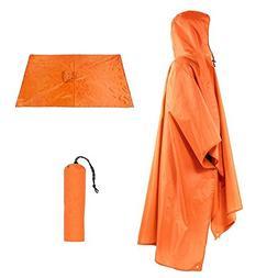 Vacio Outdoor Raincoat Waterproof, 3 in 1 Multifunctional Ra