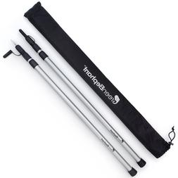 Adjustable Telescoping Aluminum Tarp and Tent Poles - Portab
